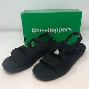 Grasshoppers Women's Cherry Sandal-Black- NIB!!